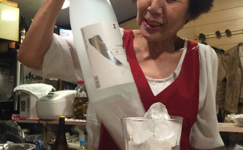 ちゃきちゃきおかあさんの店「屋台中村」 。気がつくとおかあさん、一杯やりはじめた #オジ旅