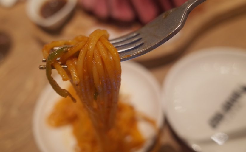 ランプキャップのランチメニューと焼きナポリタン  #オジ旅PR #ランプキャップ田町店