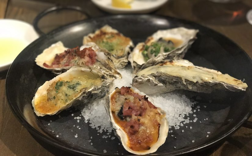 焼き牡蠣のバリエーションのすごさよ  #オジ旅PR #目黒オイスターバー