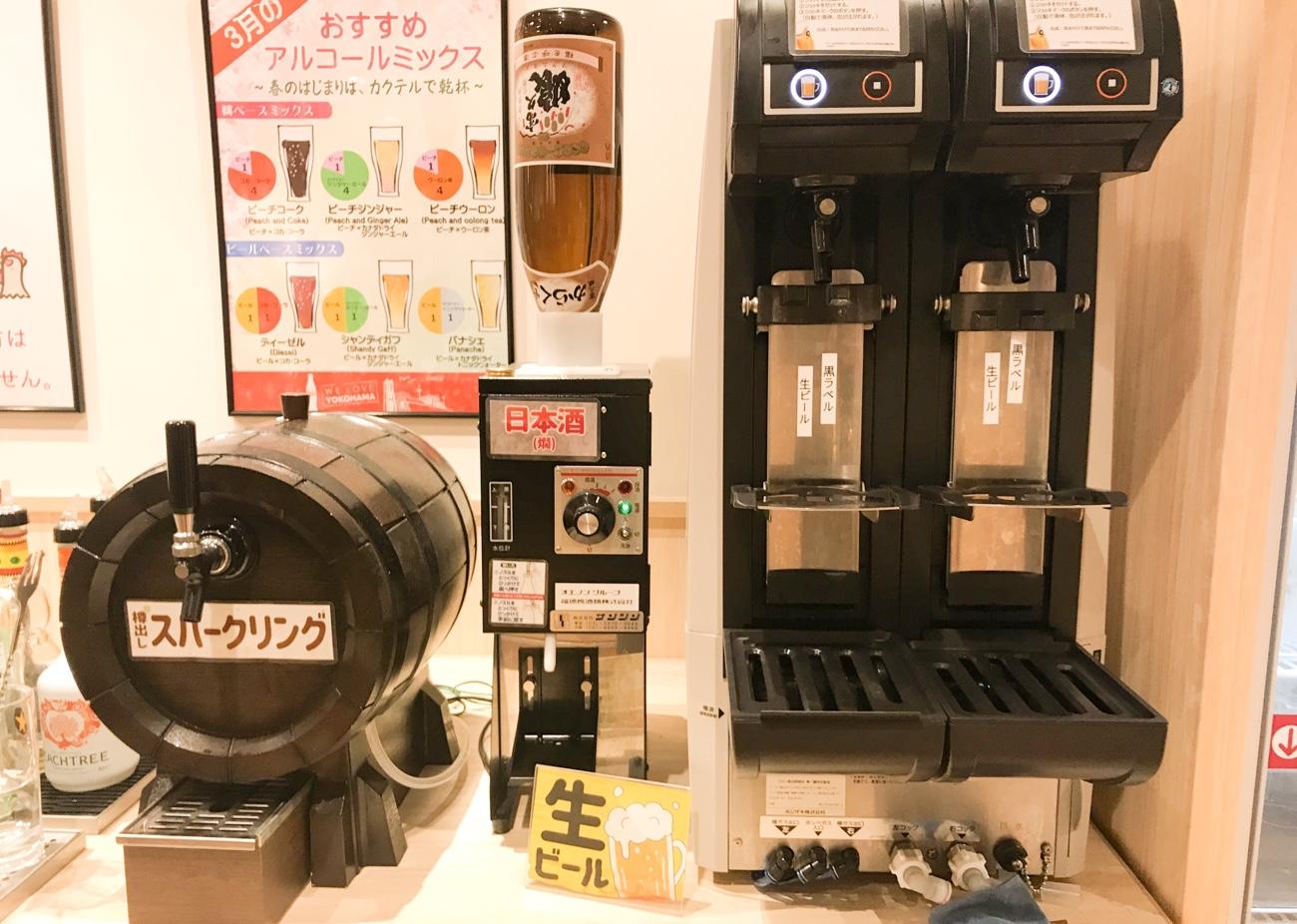 飲み放題の生ビールサーバー しゃぶしゃぶドレミ横浜西口店