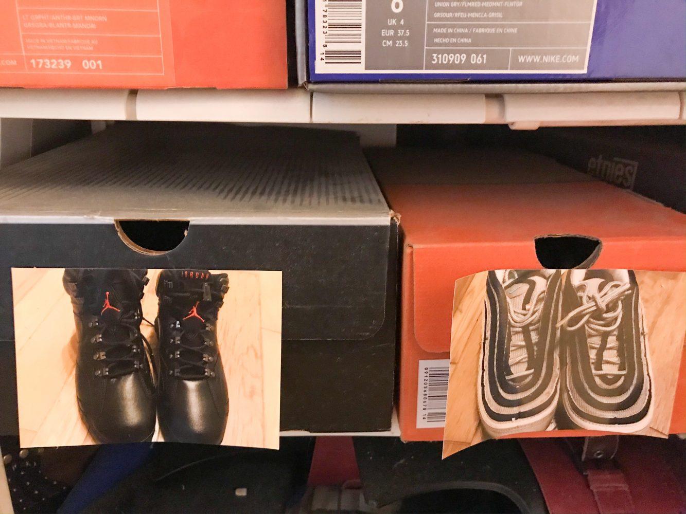 靴箱に写真 ローソンシールプリント